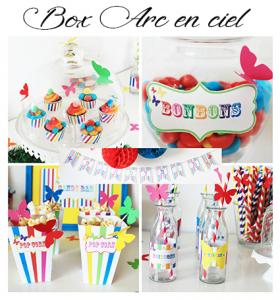 box-anniversaire-arc-en-ciel
