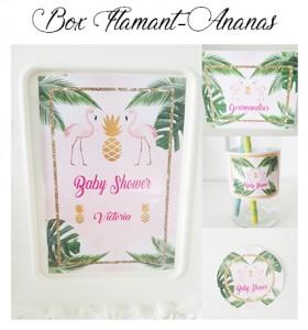 box-anniversaire-flamant ananas