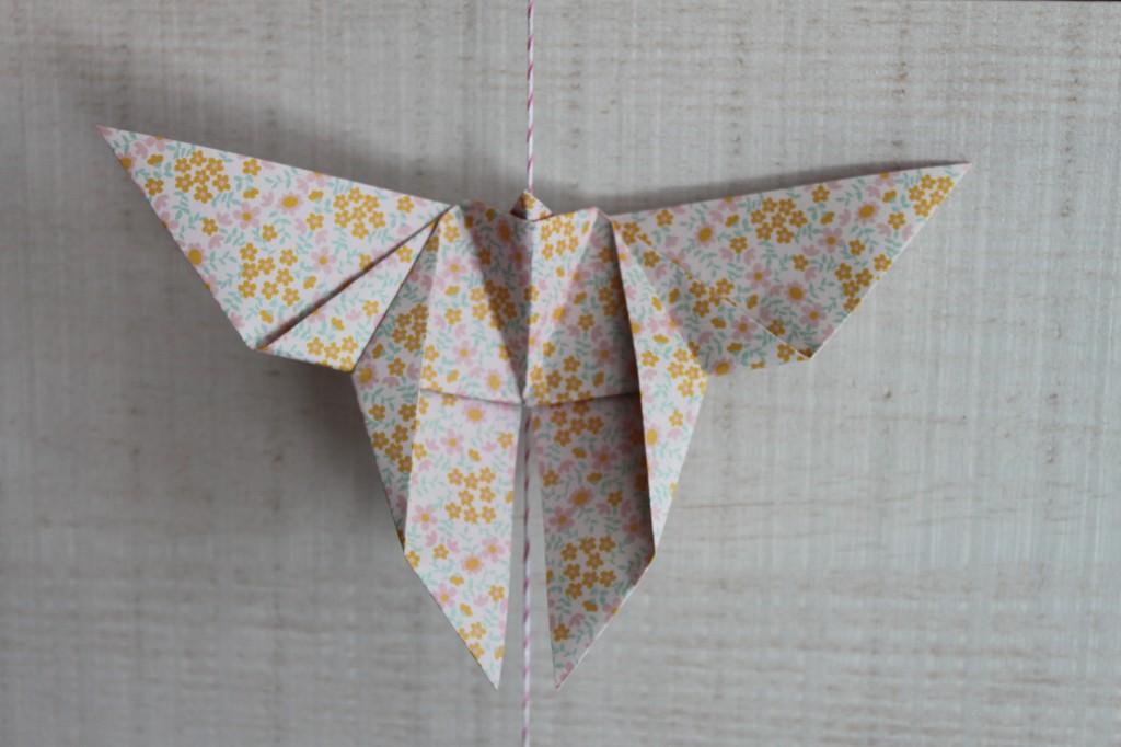 guirlande origami papillon