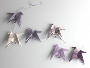 guirlande origami occuper les enfants pendant les vacances bordeaux lacanau cap ferretl