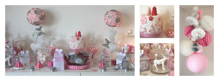 sweet table noel rose poudre