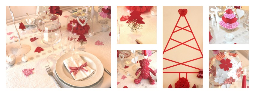table de noel rouge