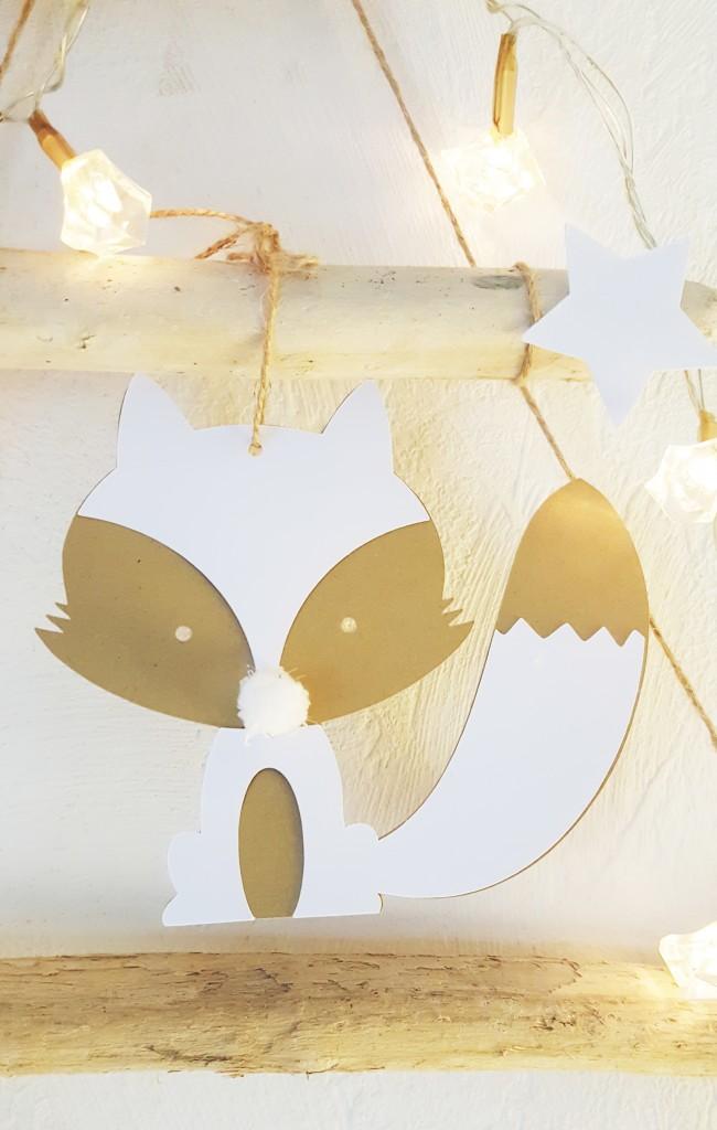 décoration de noël renard