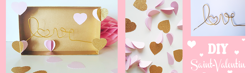 DIY – pour la Saint valentin- un tableau LOVE