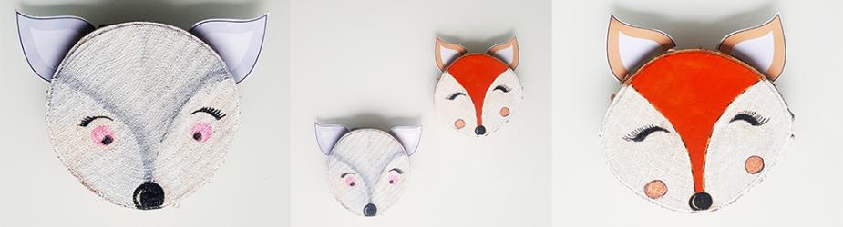 DIY, création de petits animaux de la forêt sur des rondelles de bouleau
