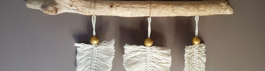 DIY Créer des plumes en macramé, suspension bohème macramé