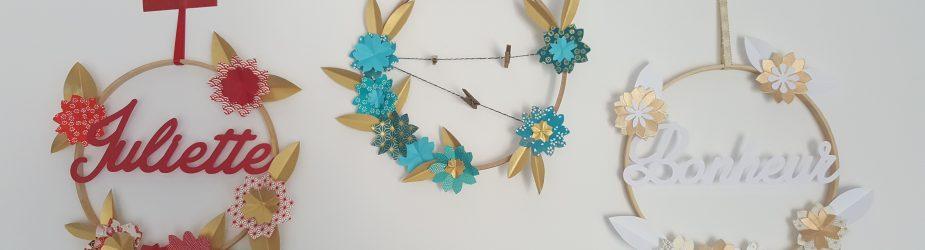 DIY tuto création d'une couronne de fleurs personnalisée